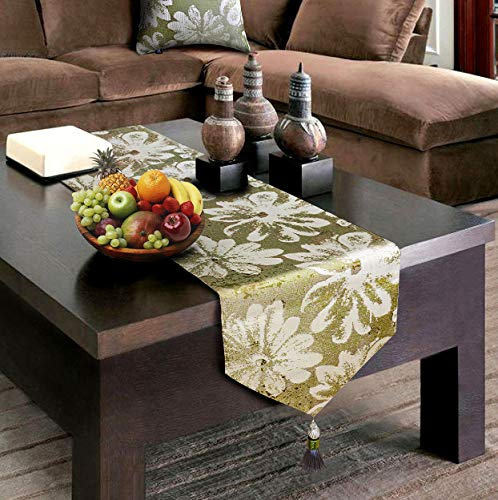 - Artbisons Green Table Runner 95x13 Inches Linens Cotton Thickly Handmade Table Runners