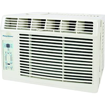"Keystone KSTAW06B Energy Star 6, 000 BTU Window-Mounted Air Conditioner with ""Follow Me"" LCD Remote Control, 115-volt"