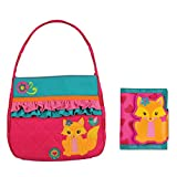 Stephen Joseph Girls Quilted Fox Purse and Wallet Combo - Gifts for Girls