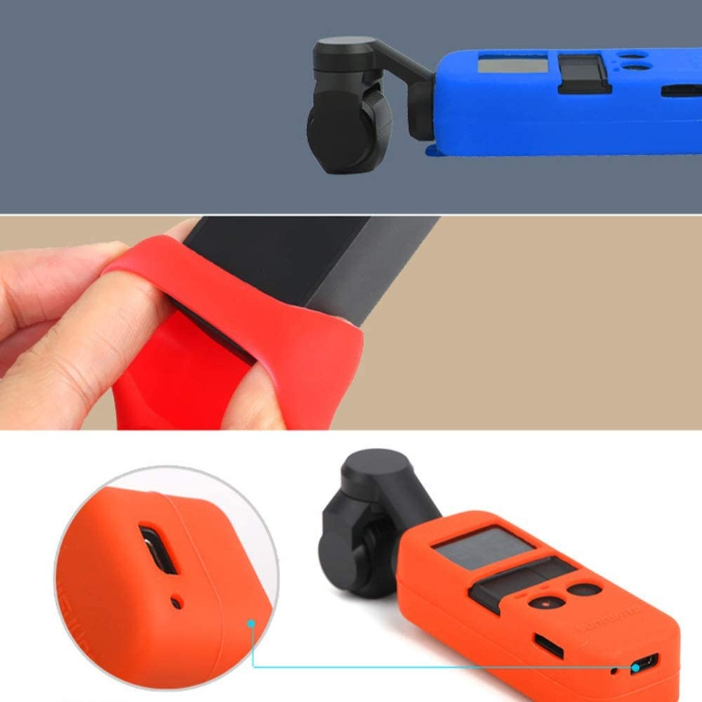Color : Color2 Non-Slip Dust-Proof Cover Silicone Sleeve for DJI OSMO Pocket Durable