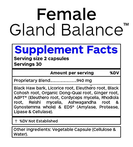 Female Gland Balance - Hormone Support - 60 Vegetarian Capsules by Professional Botanicals (Image #2)