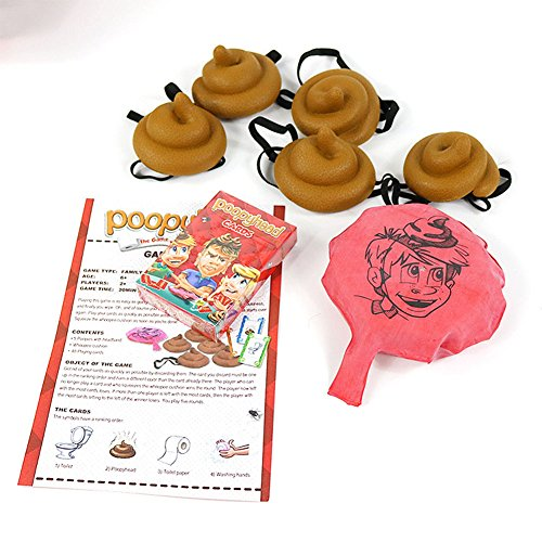 Qiyun Funny Card Toys Children Funny And Tricky Stool Game Tools Card Poo Balloon Toys Intellectual Development Christmas Gift