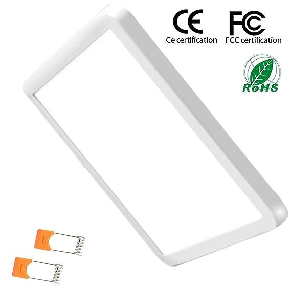 15W LED Einbauleuchte Unterputz Deckenleuchte Quadratisch Einstellbare Led-Lichtpaneel Downlight Ultra Slim Lampe Scheinwerfe