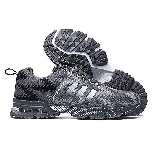 Cushion Gray Tennis Shoe Running Womens Shoes Air Men XIDISO Sport Sneakers Mens for Athletic Lightweight fnxzpXC
