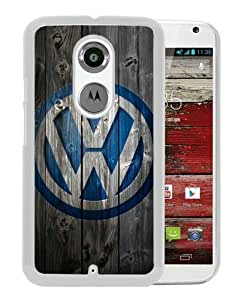 Volkswagen logo White Personalized Recommended Custom Motorola Moto X 2nd Generation Phone Case