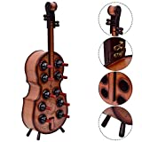 Wine Rack Violin Cello Bottle Holder 16th Century Liquor Shelf Wood 10 Bottles
