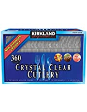 Kirkland Signature Crystal Clear Cutlery, 360 Pack(H&PC-75057)