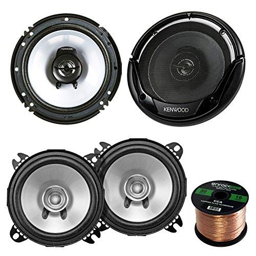2 Pair Car Speaker Package of 2X Kenwood KFC-C1355S 5 1/4