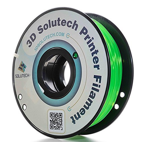 3D Solutech See Through Green 3D Printer PLA Filament 1.75MM Filament, Dimensional Accuracy +/- 0.03 mm, 2.2 LBS (1.0KG)