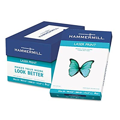 Hammermill - Laser Print Office Paper, 98 Brightness, 24lb, 11 x 17, White, 500 Sheets/Ream 10462-0 (DMi RM
