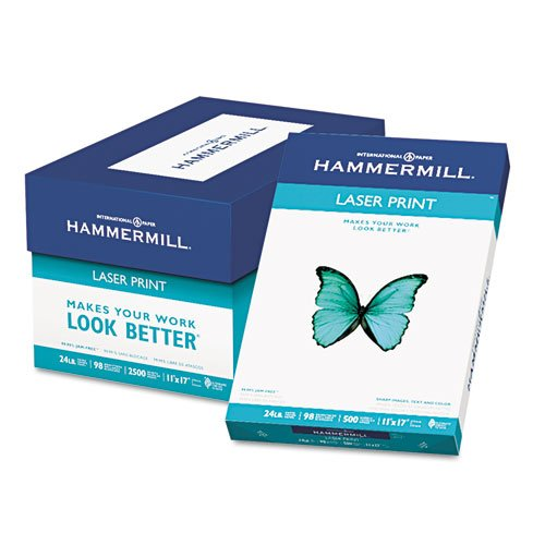 Hammermill - Laser Print Office Paper, 98 Brightness, 24lb, 11 x 17, White, 500 Sheets/Ream 10462-0 (DMi RM by Hammermill