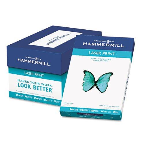 Hammermill - Laser Print Office Paper, 98 Brightness, 24lb, 11 x 17, White, 500 Sheets/Ream 10462-0 (DMi RM ()