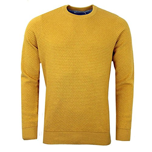 Ben Sherman - Optical Mens Crewneck Sweater Yellow MD