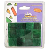 Jennifer's Mosaics Dark Green Opalescent Stained Glass Chips