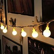 Amazon Lightning Deal 92% claimed: Led String Light, Arespark Ball Fairy Light, 33Feet 100 LED Globe Waterproof Starry Light for Christmas, Wedding, Party- Warm White