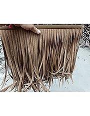 Simulated Thatch,Fake Thatch Artificial Thatch Tile Palm Thatch Plastic Thatched Pavilion, Artificial Thatch Realistic Decorative Effect for Resorts Parasol (Color : A-6pcs, Size : 50x50cm)
