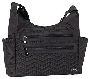 Lug Camper Cross-Body Bag, Brushed Black, One Size (Model:4936) LUGCA