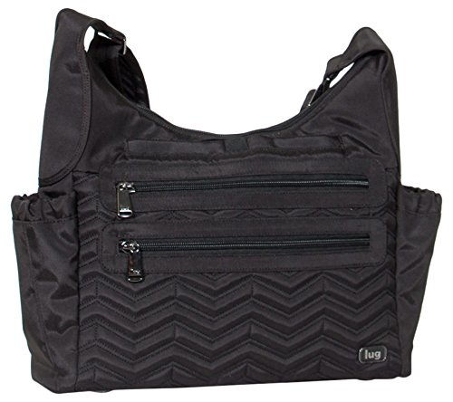 Lug Clothing, Shoes & Jewelry Cross Body Bag, Brushed Black, One Size (Lug Purses Handbags)