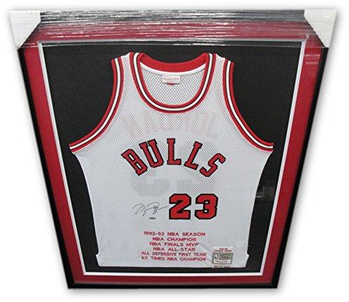 Michael Jordan Signed Autographed Jersey 1984-85 Mitchell & Ness Bulls Frame UDA