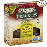 Marys Gone Hot n Spicy Jalapeno Cracker, 5.5 Ounce - 12 per case.