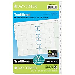Day-Timer Two Page Per Month Refill 2016, 12 Months, Loose-Leaf, Desk Size, 5.5 x 8.5 Inches (87229)