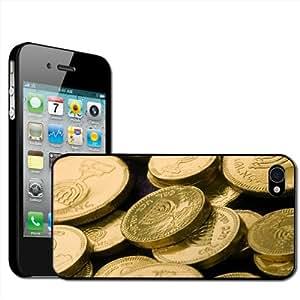 Fancy A Snuggle - Carcasa rígida para iPhone 4 y 4S, diseño de monedas de Janucá con escritura en hebreo
