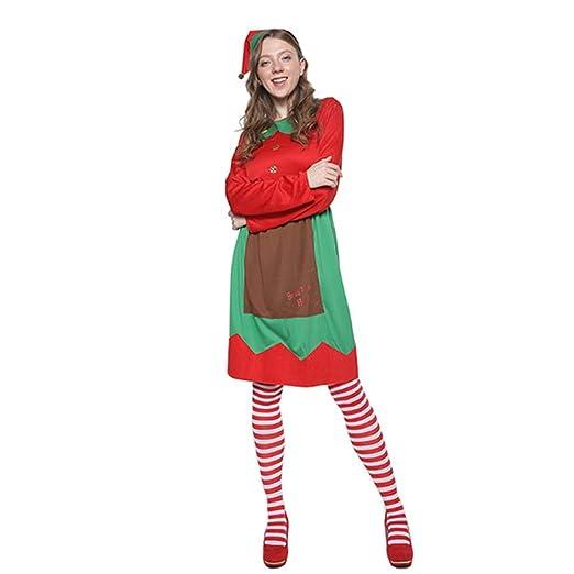 Amazon.es: YMMONLIA Lady Christmas Elf Set,Disfraz de ...