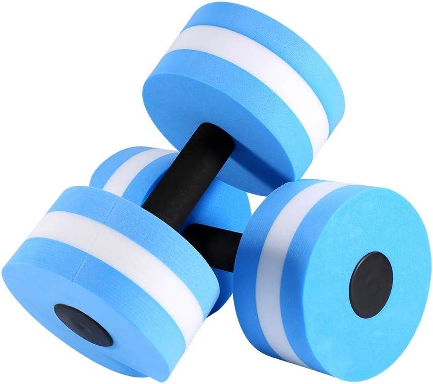 FTVOGUE 2 Piezas de aeróbicos acuáticos con Mancuernas de Espuma con Mancuernas acuáticas con Mancuernas Aqua Fitness con Pesas Ejercicio de Piscina para Perder Peso