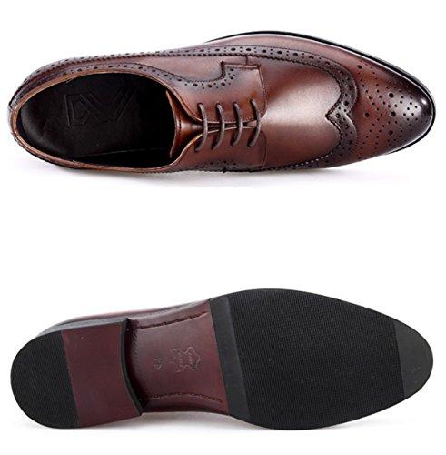 GRRONG Respirant Chaussures Casual Chaussures De Mode Rétro Hommes brown FdCKsVnUNn