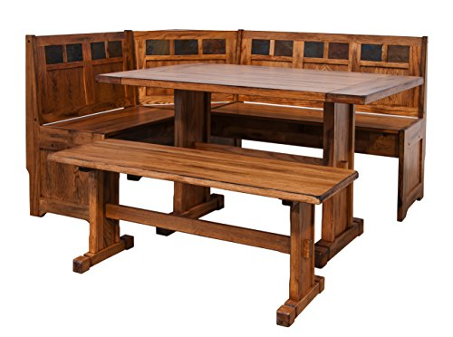 California Bookcase Cabinet - Sunny Designs Sedona Breakfast Nook Set with Side Bench