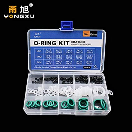Red Silicon O Ring Viton 15 Sizes Set Washer Gasket Rubber Assortment Seal Kits