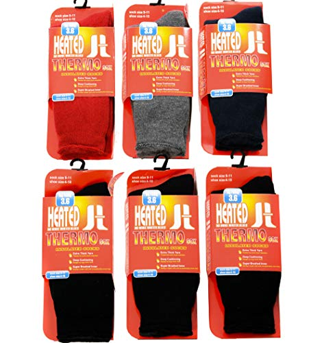 Thermal Socks For Women - 6 Pairs Insulated Heated Socks For Your Feet - Boot Socks For Extreme Temperatures By DEBRA WEITZNER