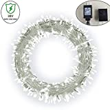 Ucharge Fairy String Light, Plug in Led Christmas Light White 200led 30V 8 Modes Patio Backyard Christmas Wedding Party Indoor Bedroom String Lights 72ft (No Battery Needed)