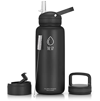Amazon.com: 32OZ Botella de agua de acero inoxidable, tres ...