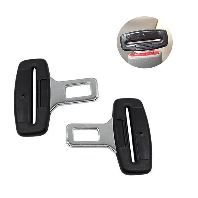 2ps Cinturones de seguridad Seguridad De Coche Universal De Fibra De Real Carbon Clip Abrazadera Enganche Conector de cinturón Stopper Seguridad para ...