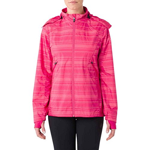 ASICS Women's Storm Shelter Jacket, Cosmo Pink, Small