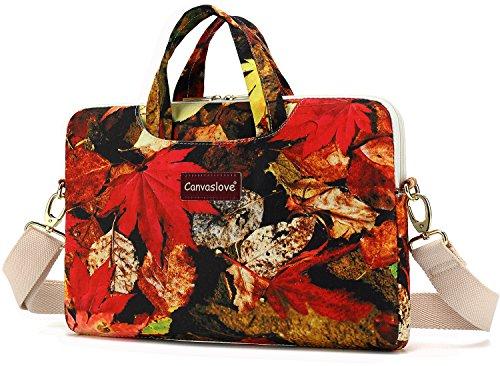 Canvaslove Maple Leaf Waterproof 13 inch Laptop Shoulder Messenger Case Sleeve Bag For 11 inch 12 inch 13.3 inch Laptop,Chromebook,Ultrabook,Macbook Pro 13 Carrying Computer Notebook Bag