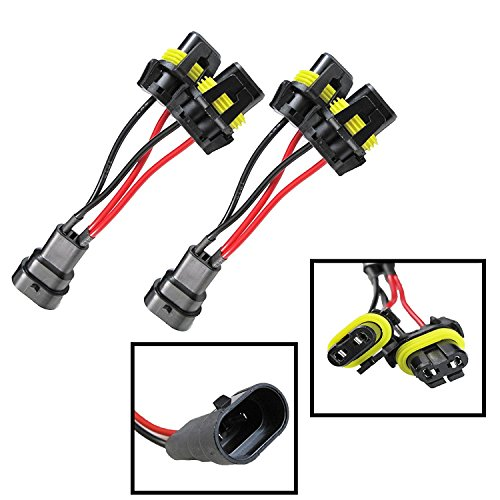 2 Pieces set 9005/9006 Headlight Bulb Xenon Halogen HID Light Connector Wire Harness