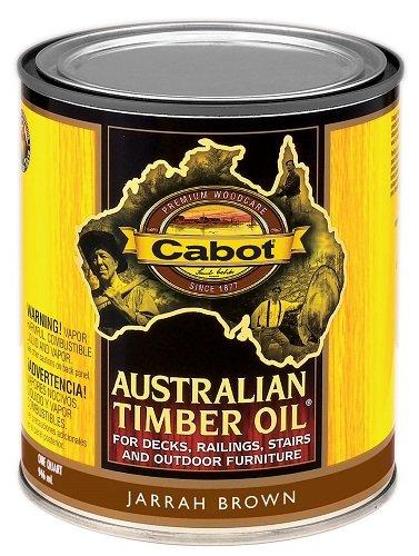 Timber Australian Oil Cabot (CabotStain 140.0003460.005/3460 Australian Timber Oil Penetrating Oil 1 Quart)