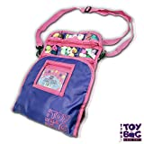 Holds 200 - Tiny Toy Bag Shopkins Storage Carrier Organizer Container - Collectors Carrying Tote Compatible W/ Mini Toys Colleggtibles LoL Fashems Tsum Tsum Hot Wheels (Purple)