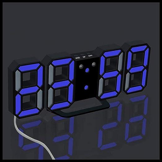 HIZ Reloj Digital Digital, Mesa Digital Moderna de Leds, Mesa de ...
