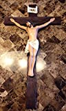 Large 30'' Tall Detailed Passion of The Christ Wall Crucifix Cross In Vivid Colors Catholic Christian Sculpture Decor
