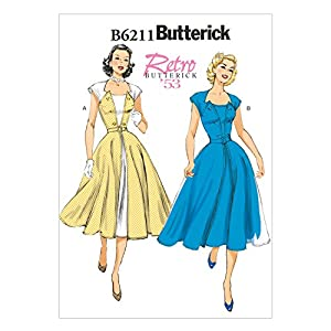 1950s Sewing Patterns | Swing and Wiggle Dresses, Skirts  1953 Dress and Belt E5 (14-16-18-20-22) $9.46 AT vintagedancer.com