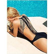 Zelura Sexy-temptation Women's Resort Halter One-piece Bikini