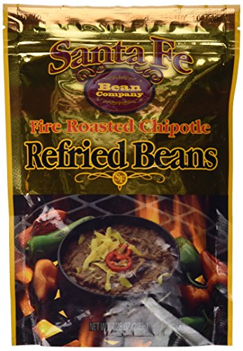 Santa Fe Bean Company Fire Roasted Chipotle Refried Beans 7.25 Ounce (Pack of 8) Instant Fire Roasted Chipotle Refried Beans Pouch; High in Fiber; Great Source of Protein; Easy Preparation