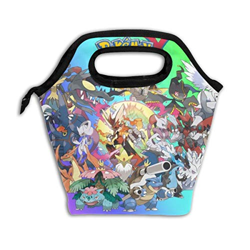 Kids Lunch Bag Poke-mon Xy Lunch Box Boys&Girls Insulated Reusable Lunch Tote Picnic Bags Ice Pack For Adult Men Women -