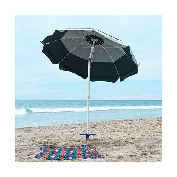 Yardwe Picchetto di Supporto per ombrellone Mare Spiaggia in plastica Porta ombrellone da Spiaggia per resistere a Forti… 2 spesavip