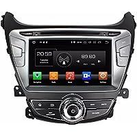 Glyqxa Android 8.0 Octa Core 8 Car Radio Car DVD GPS for Hyundai Elantra 2014 2015 With Radio 4GB RAM Bluetooth WIFI USB 32GB ROM Mirror-link