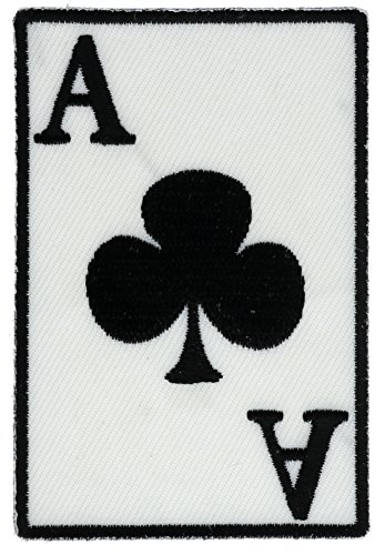 Ace of Clubs Playing Card Embroidered Patch 3