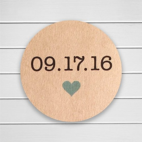 amazon com save the date stickers in kraft save the date envelope